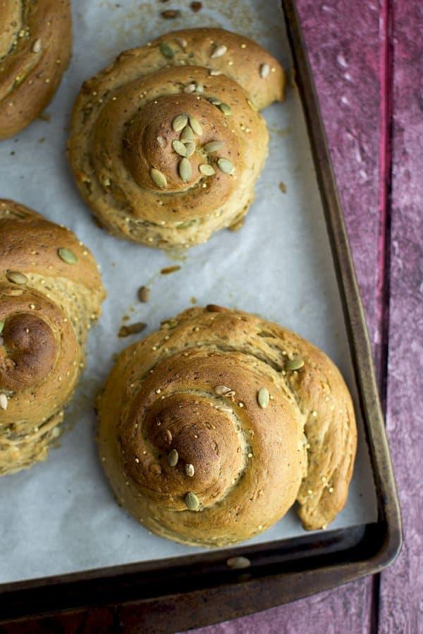 Vegan Seeded Challah Bread