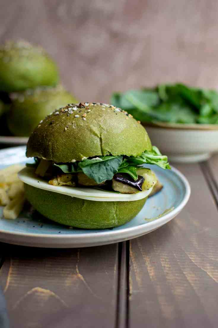 Spinach Sandwich Rolls for #BreadBakers