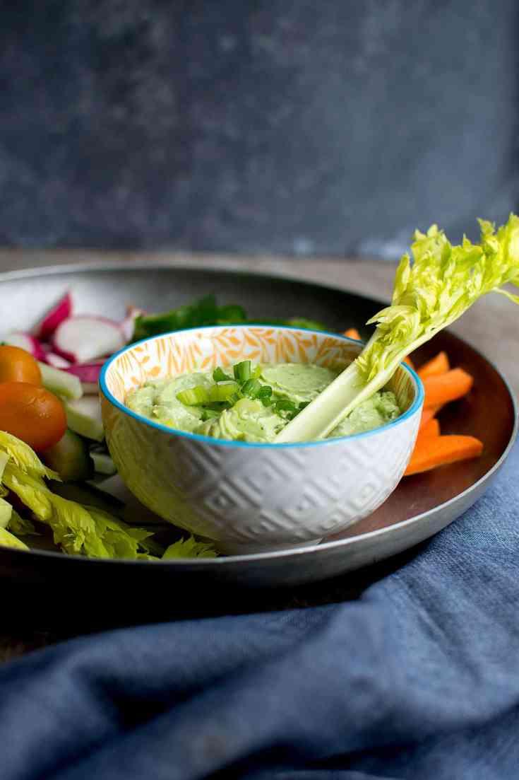Green Goddess Dip with Avocado Recipe