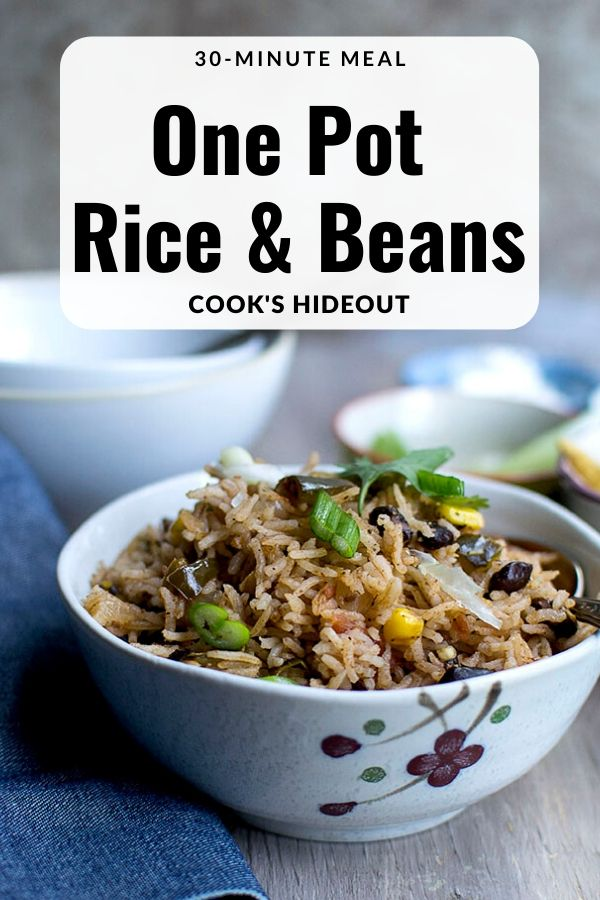 One pot rice and beans