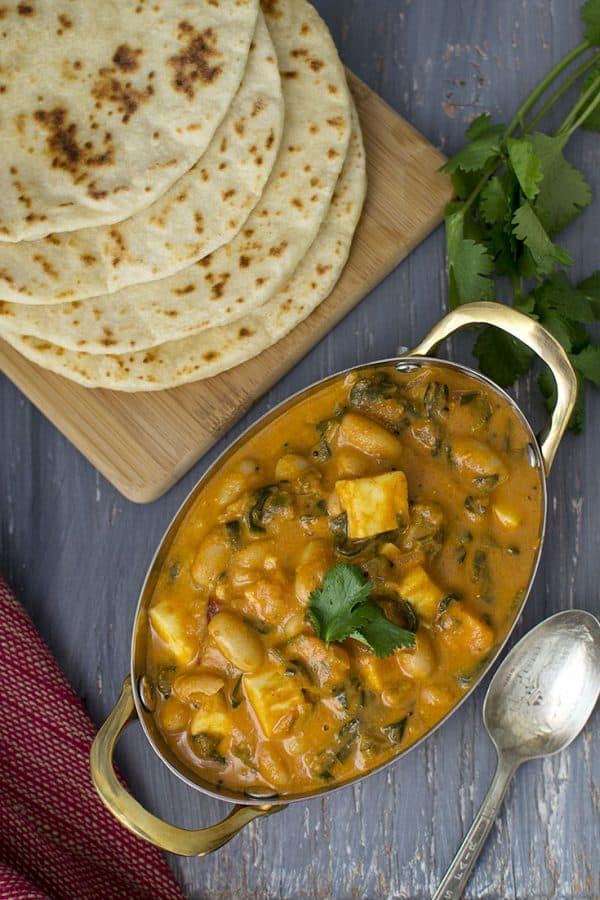 Paneer & White Beans Curry