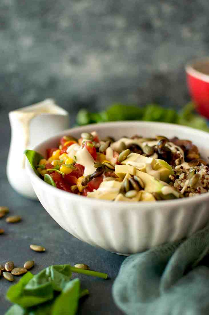 Vegan Mexican Quinoa Bowl Recipe
