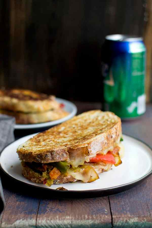 Mexican Style Grilled Cheese Sandwich