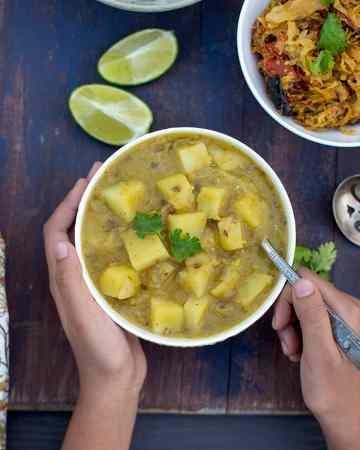 Bowl of Potato lentil stew