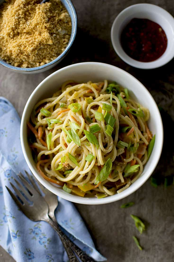 Indian Style Peanut Noodles