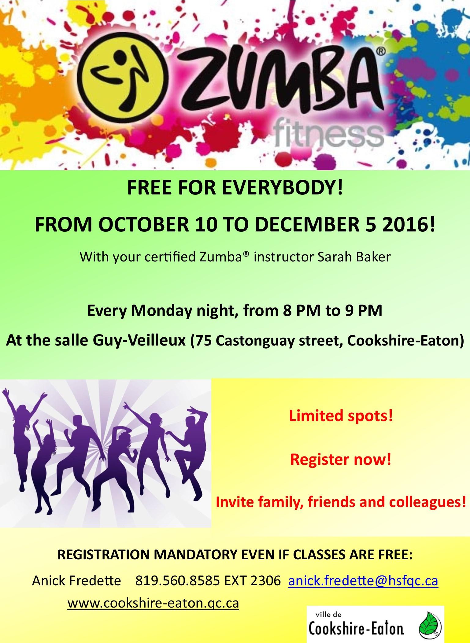 Printable Zumba Invitations