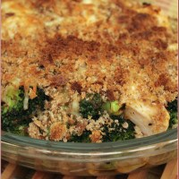 Easy chicken, broccoli and mustard bake