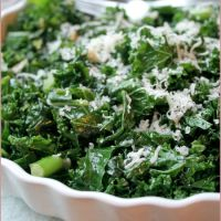 Sautéed curly kale with garlic & Parmesan - and lunch for a new mum