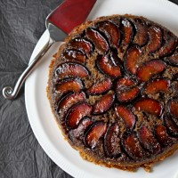 Sticky spiced plum upside-down cake and 16 years of blogging