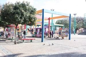 Plaza in La Boca