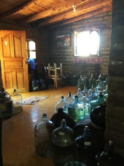 The home of Eduardo full of mezcal. I'm in heaven.