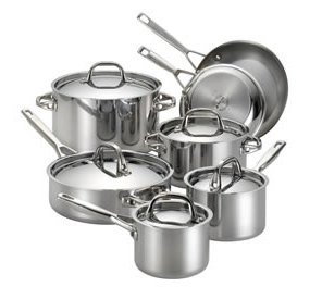 Anolon Tri-Ply Clad Stainless Steel 12-Piece Cookware Set Review