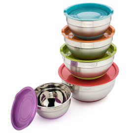 Cheffy Stainless Steel Mixing Bowls Set of 5