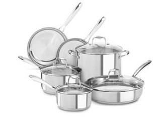 KitchenAid KCSS10LS Stainless Steel 10-Piece Cookware Set Review - best stainless steel cookware set