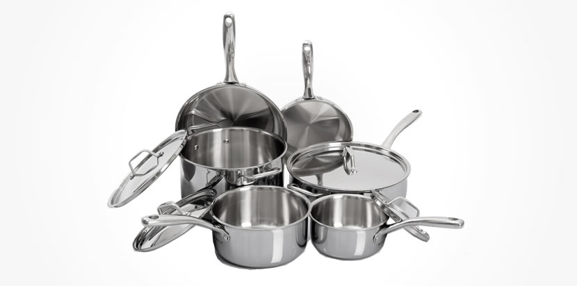 Duxtop Whole-Clad Tri-Ply Stainless Steel Induction Ready Premium Cookware 10-Pc Set Review