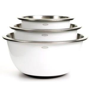 OXO Good Grips 3-Piece Mixing Bowl Set Review - Best Stainless Steel Mixing Bowls Set