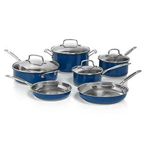 Cuisinart 10-Piece Cookware Set (Blue)