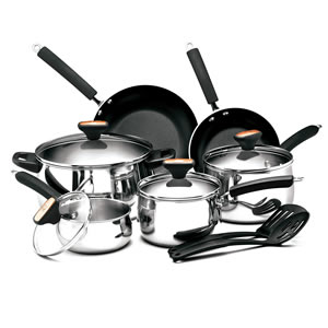 Paula Deen Stainless Steel II 12-Piece Cookware Set