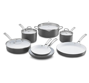 Calphalon 11 Piece Classic Ceramic Nonstick Cookware Set