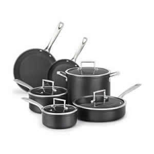 KitchenAid KCH2S5BKM Hard Anodized Nonstick 5-Piece Cookware Set