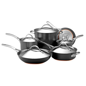 Anolon Nouvelle Copper Hard Anodized Nonstick 11-Piece Cookware Set Review
