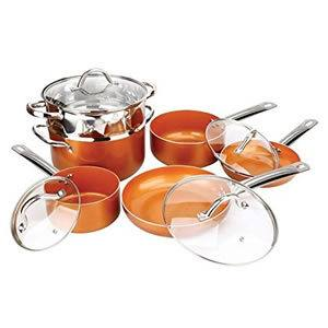 Copper Pan 10-Piece Non-stick Luxury Cookware Set Review