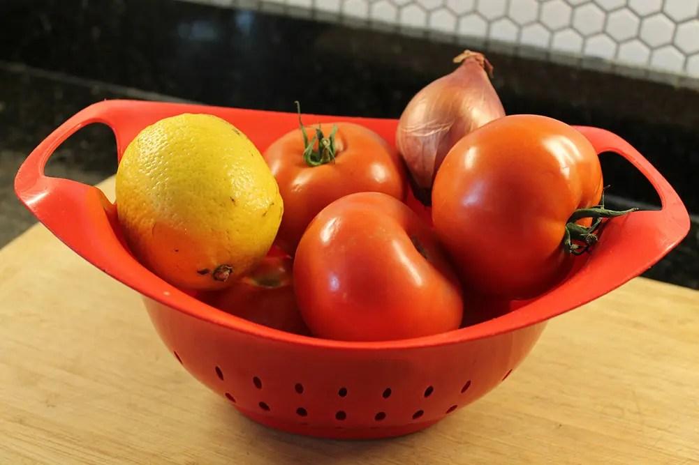 Tomatoes, Shallot, and Lemon