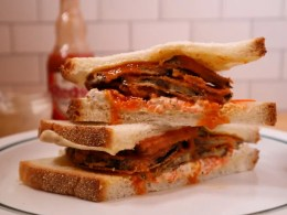 Buffalo Eggplant Sandwich