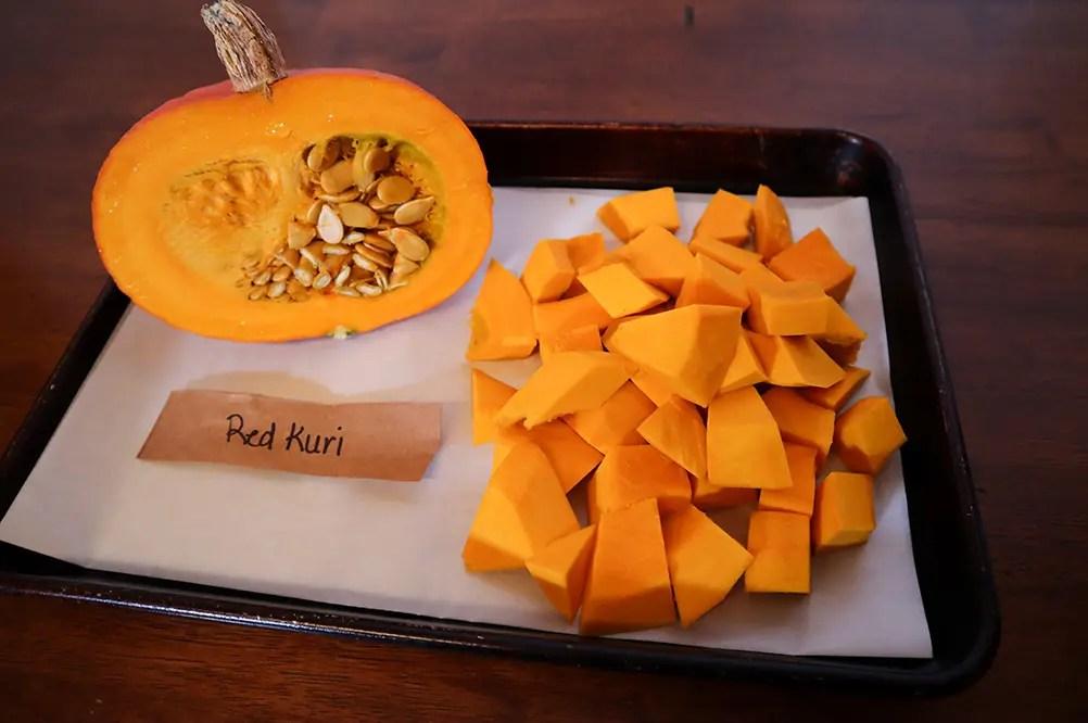 Raw Red Kuri Squash