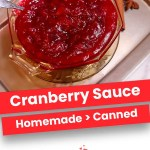 Cranberry Sauce | The Easiest Thanksgiving Side Dish