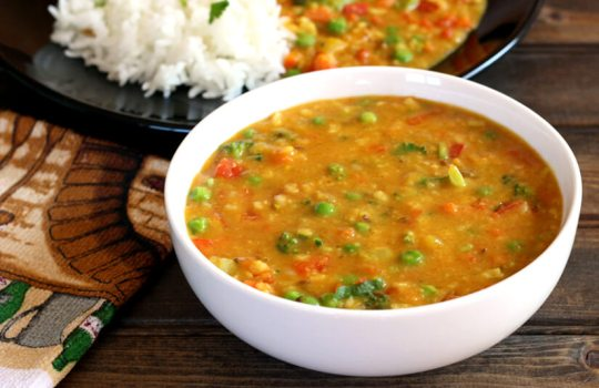 MIXED VEGETABLE DAL - Cook with Kushi