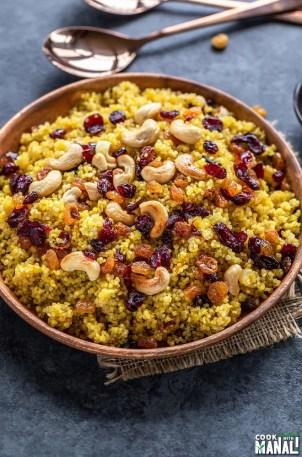Instant Pot Saffron Quinoa with Cashews & Raisins - Cook With Manali