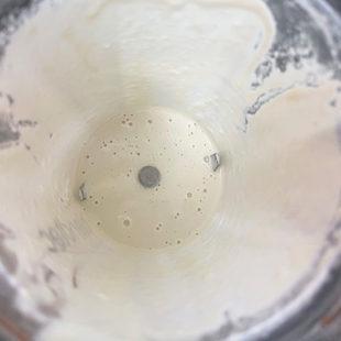 white color paste in a blender
