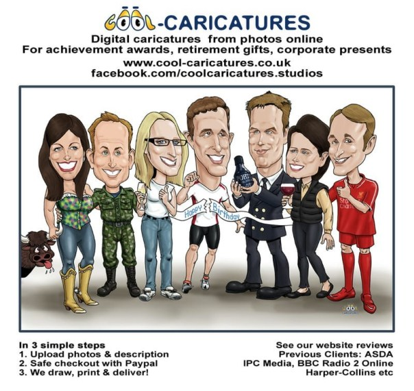 Caricatures from photos- How to order