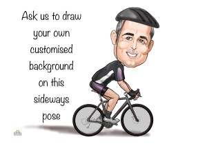 cycling gifts for him custom caricatures