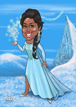 Princess Elsa personalised