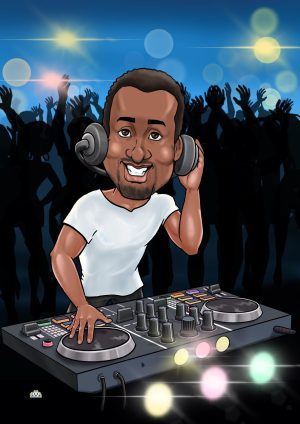 personalized caricature dj gifts