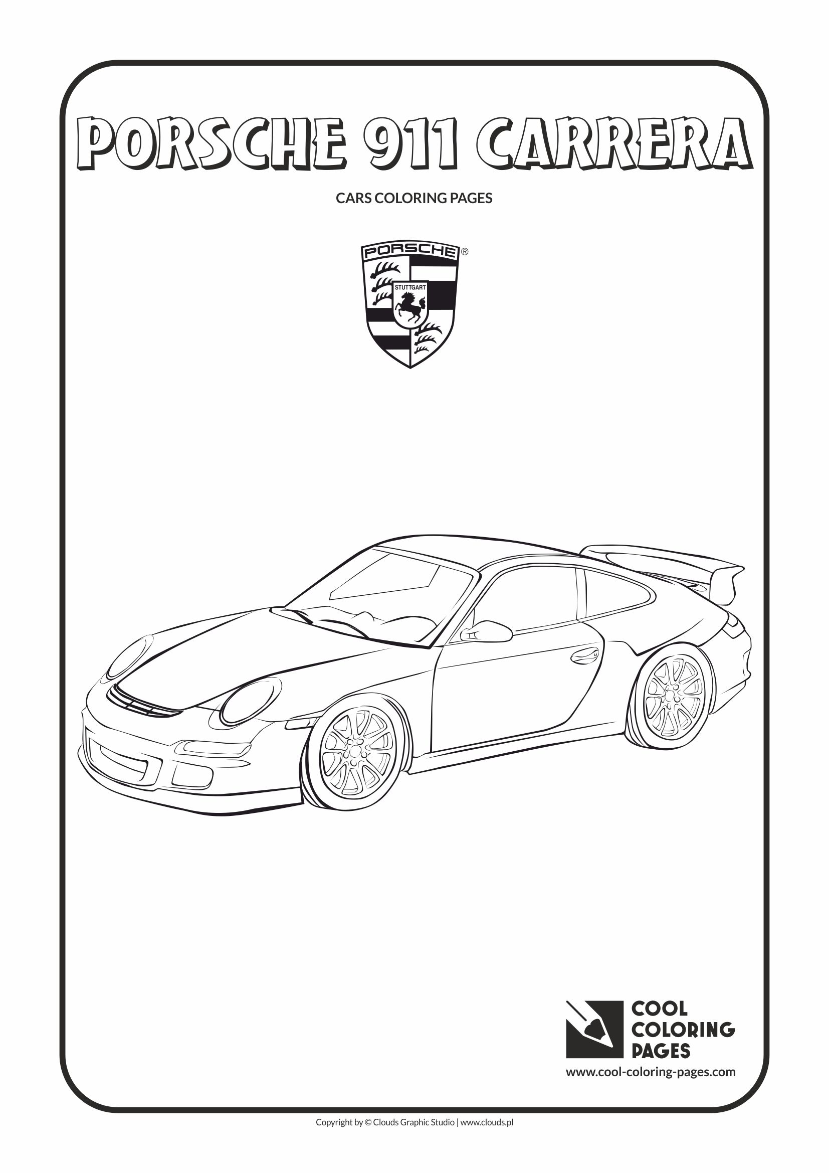Cool Coloring Pages Porsche 911 Carrera Coloring Page