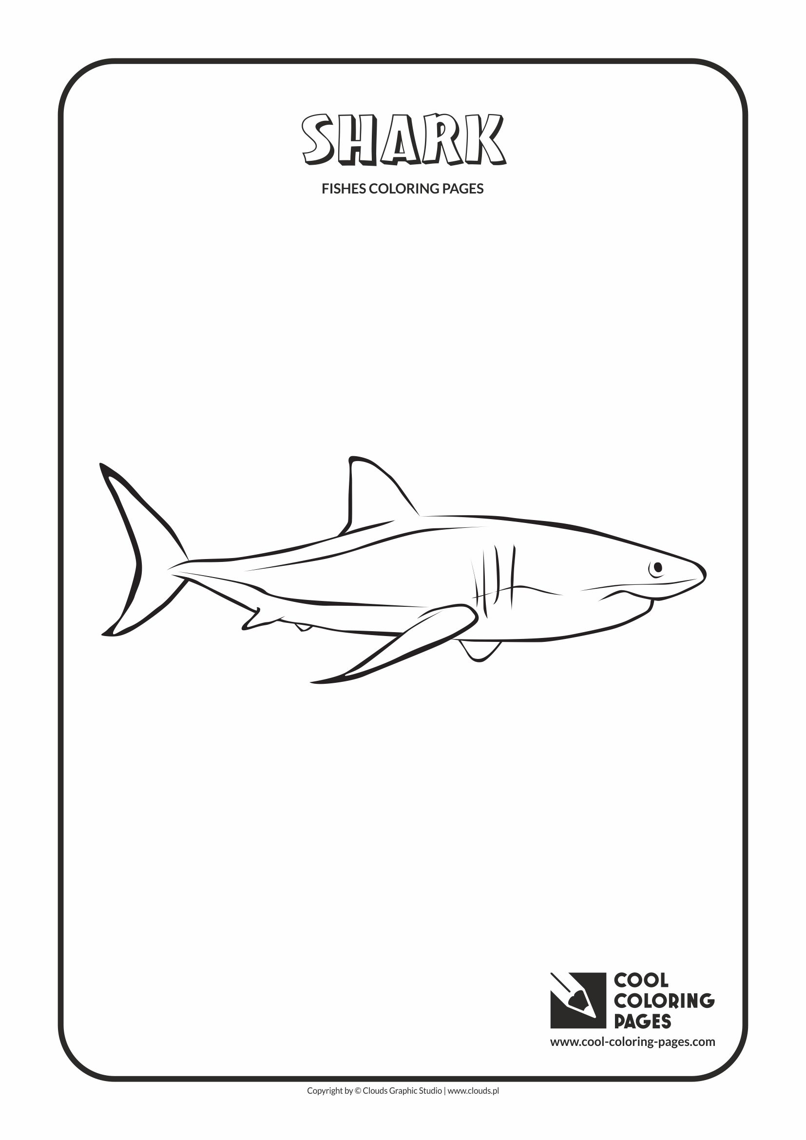 Cool Coloring Pages Shark Coloring Page