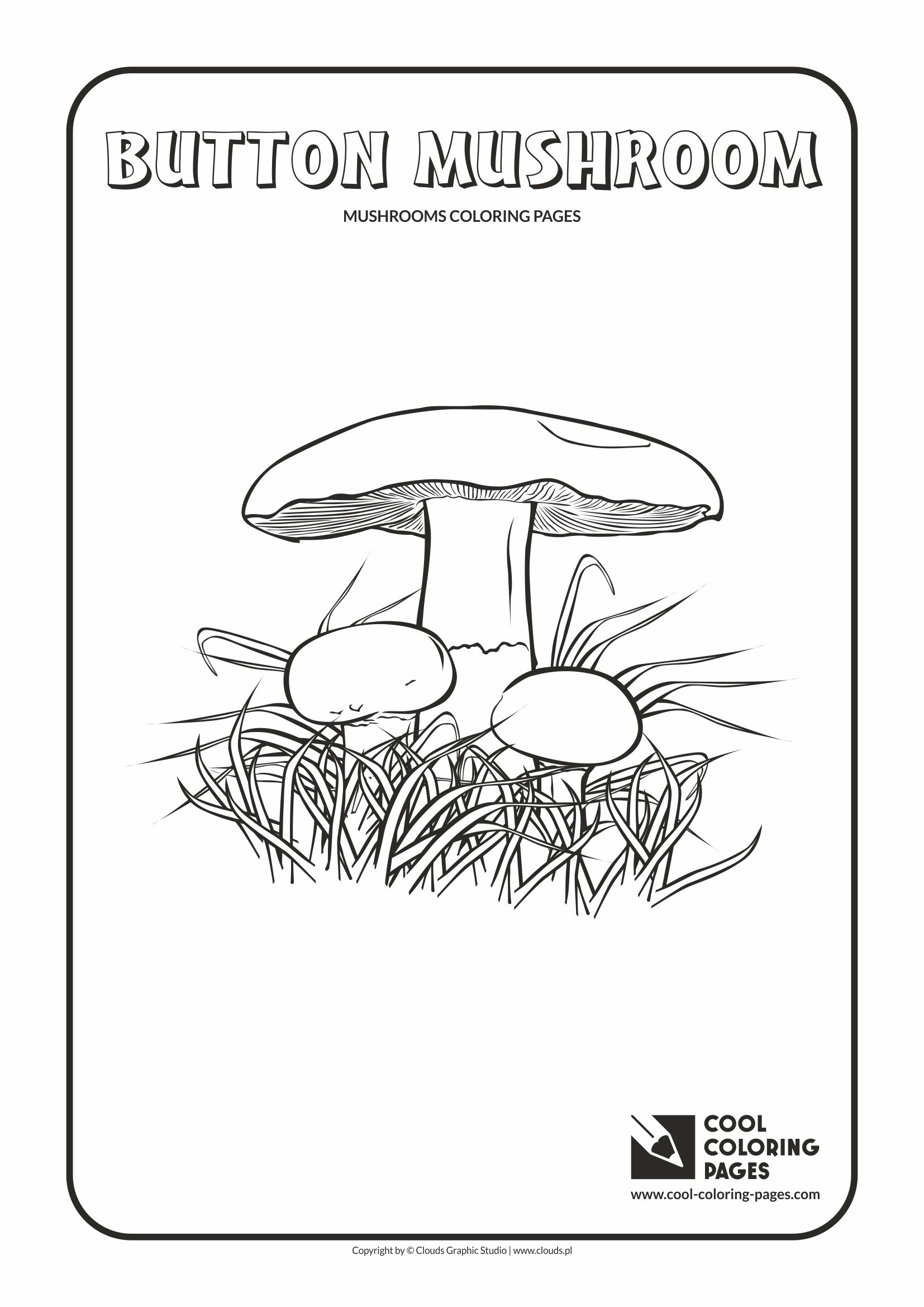 Complex Coloring Page Mushroom Coloring Pages