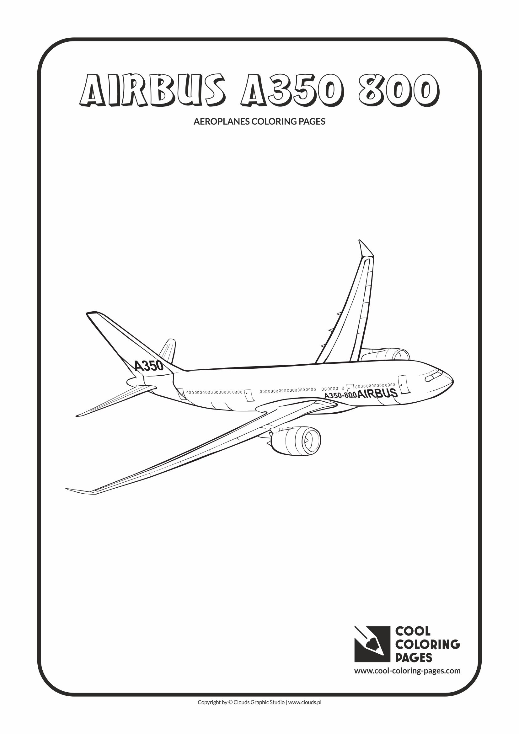 Cool Coloring Pages Airbus A350 800 Coloring Page