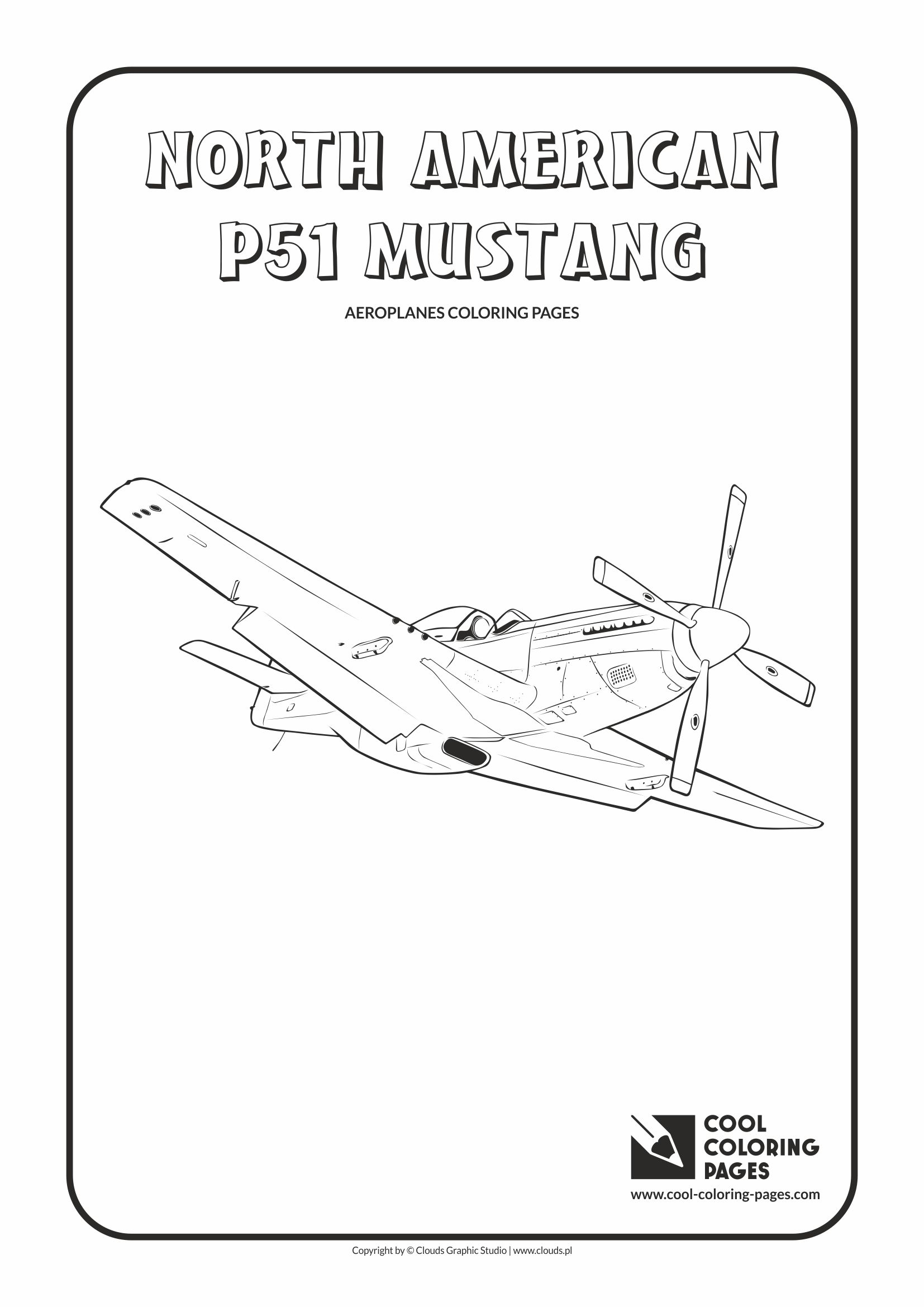Cool Coloring Pages North American P 51 Mustang Coloring
