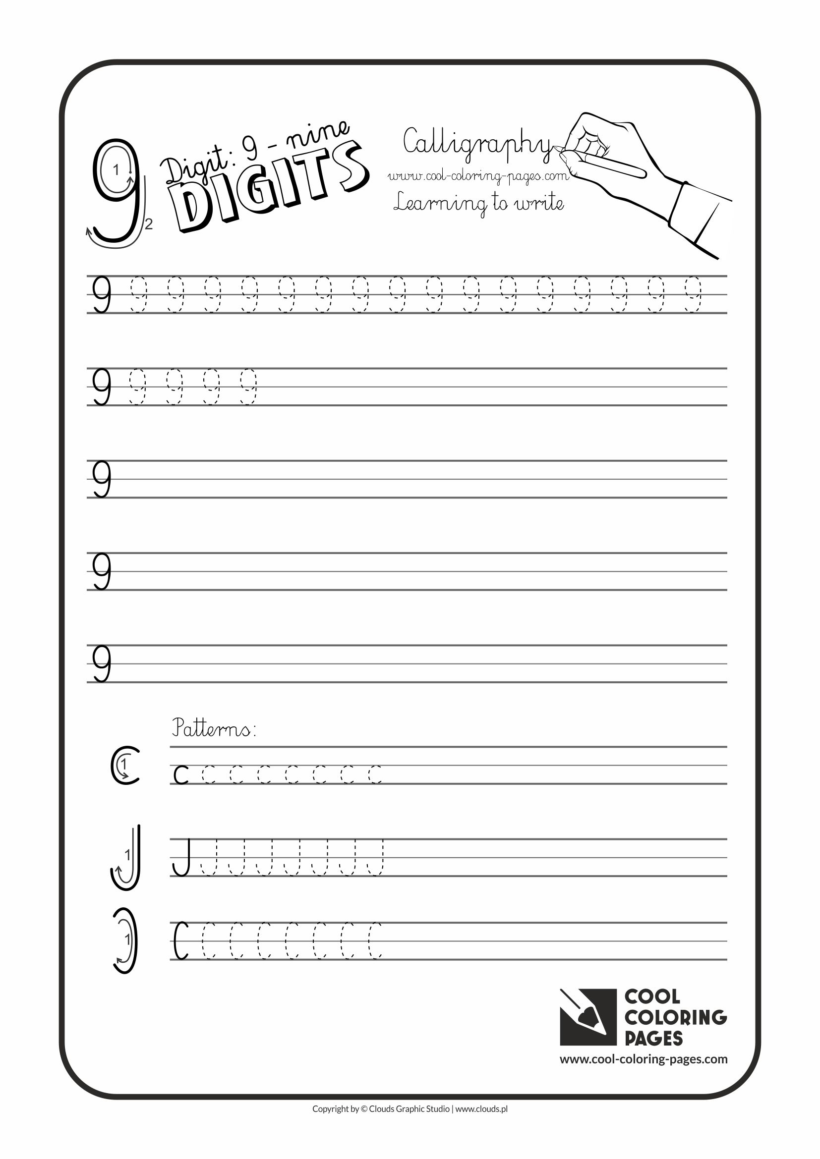 Cool Coloring Pages Digit 9
