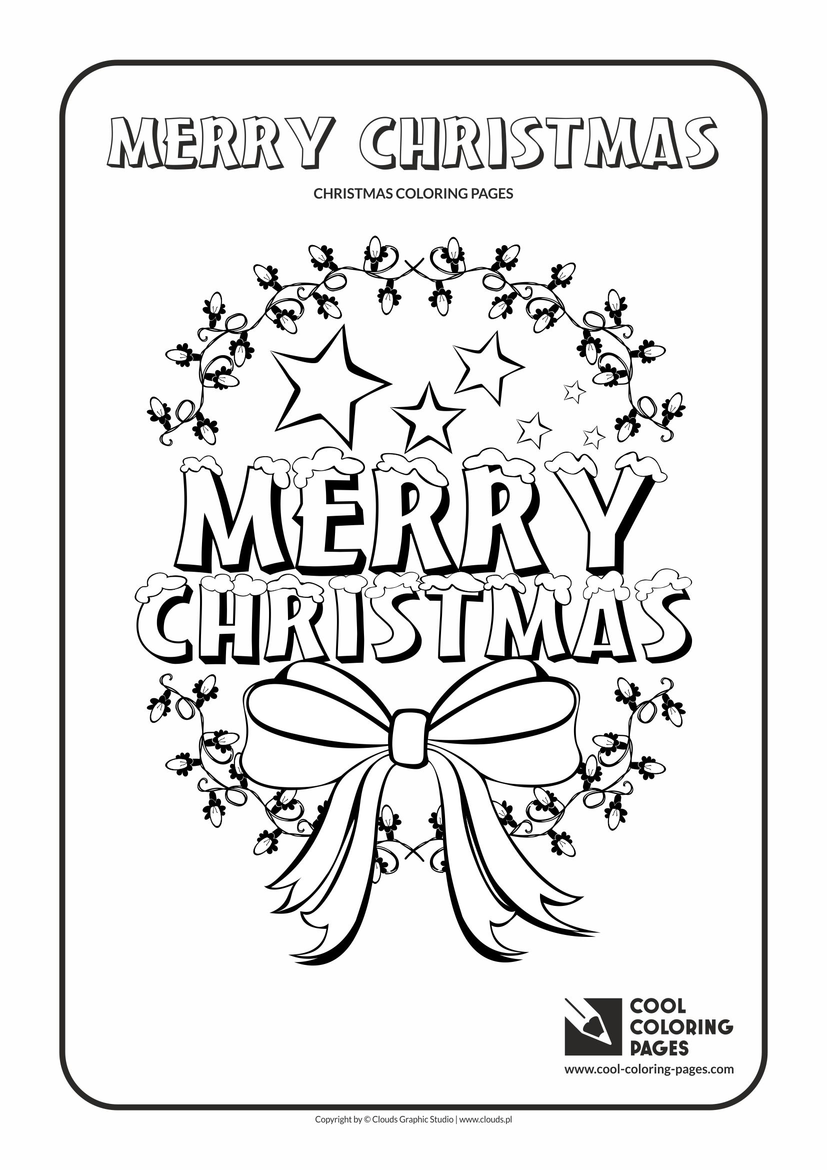 Merry Christmas No 2 Coloring Page Cool Coloring Pages