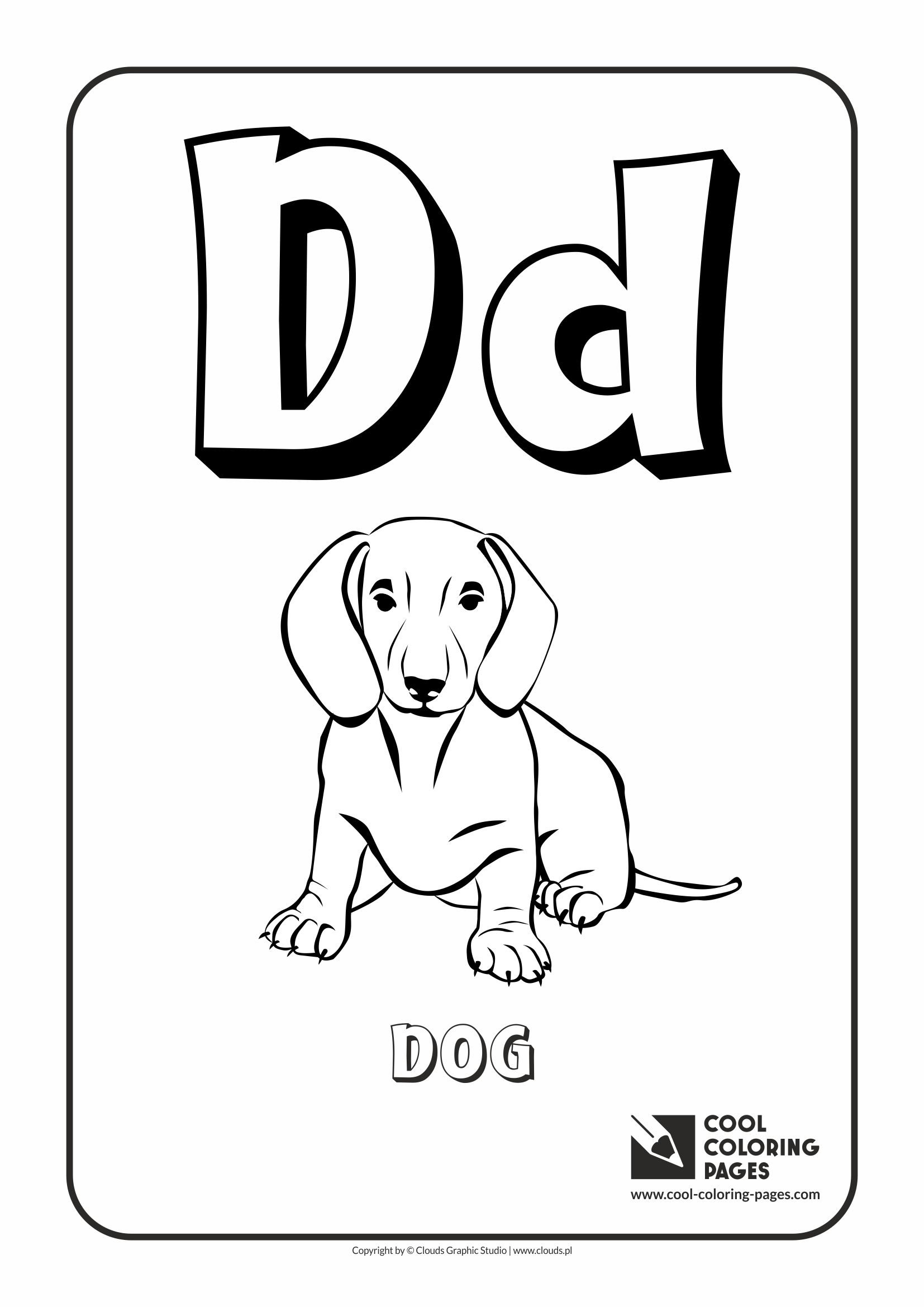 Cool Coloring Pages Alphabet Coloring Pages