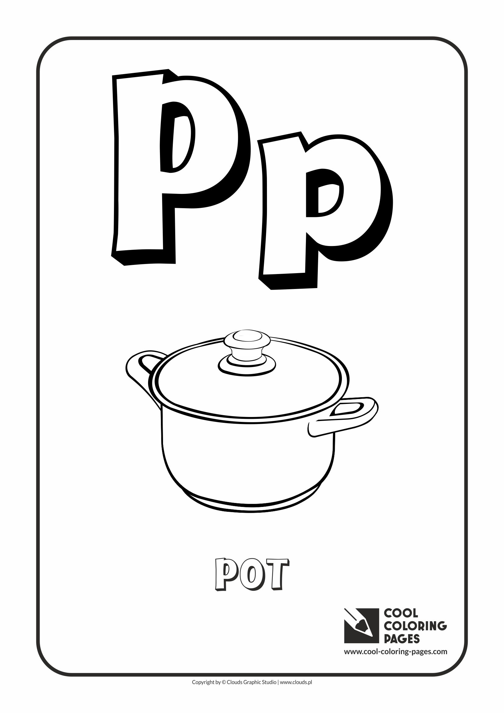 Cool Coloring Pages Letter P