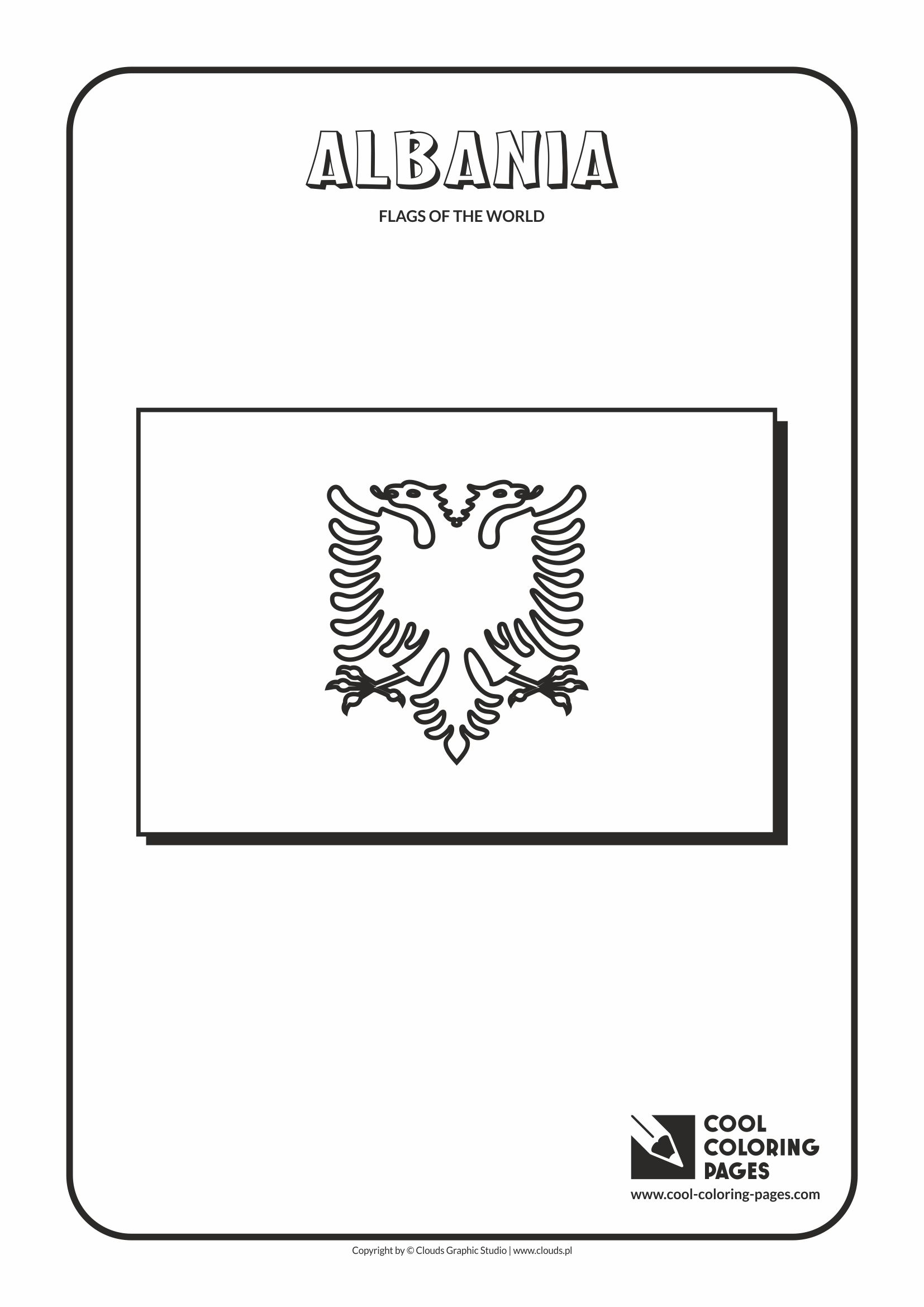 Albania Flag Coloring Pages