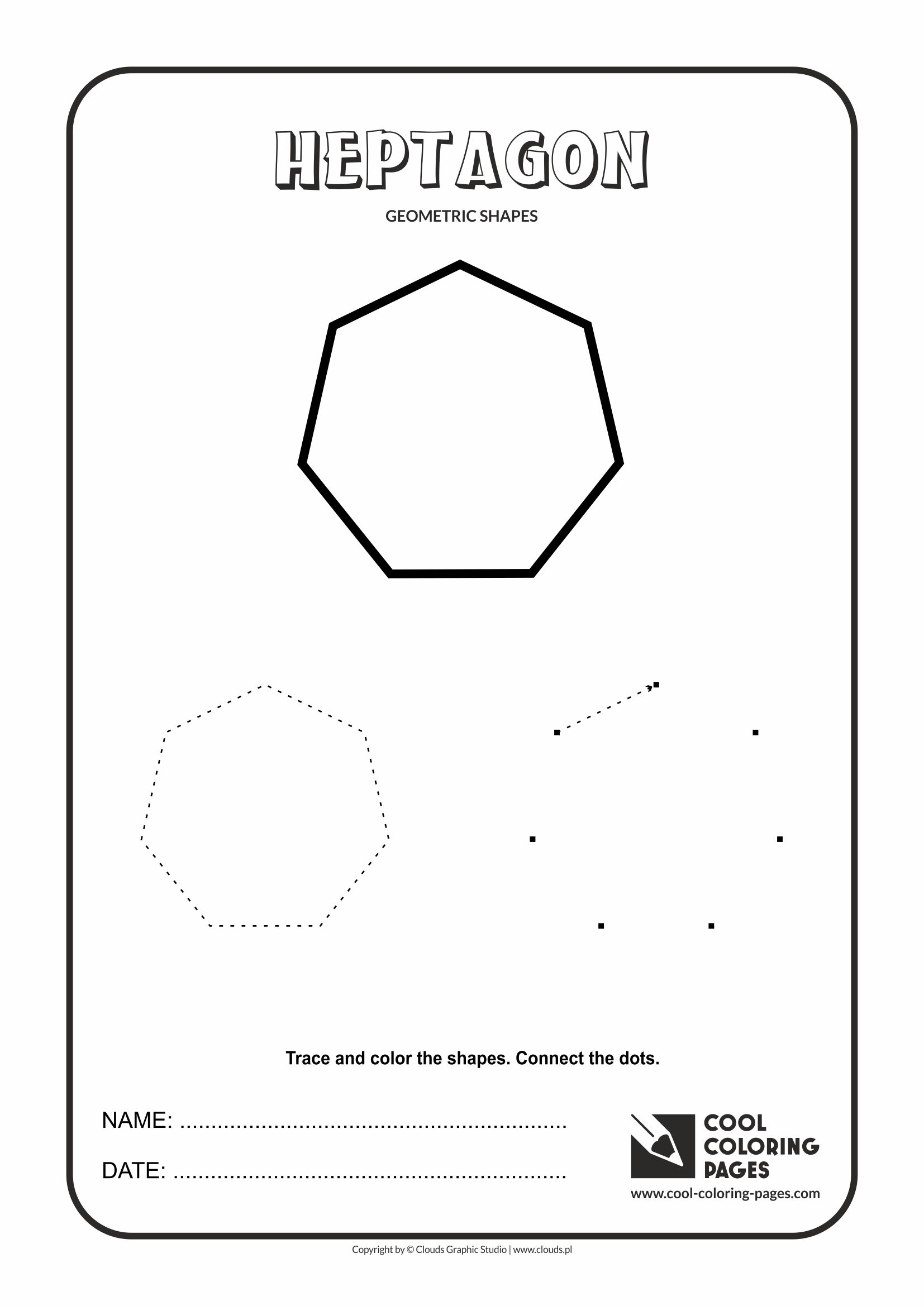Cool Coloring Pages Heptagon