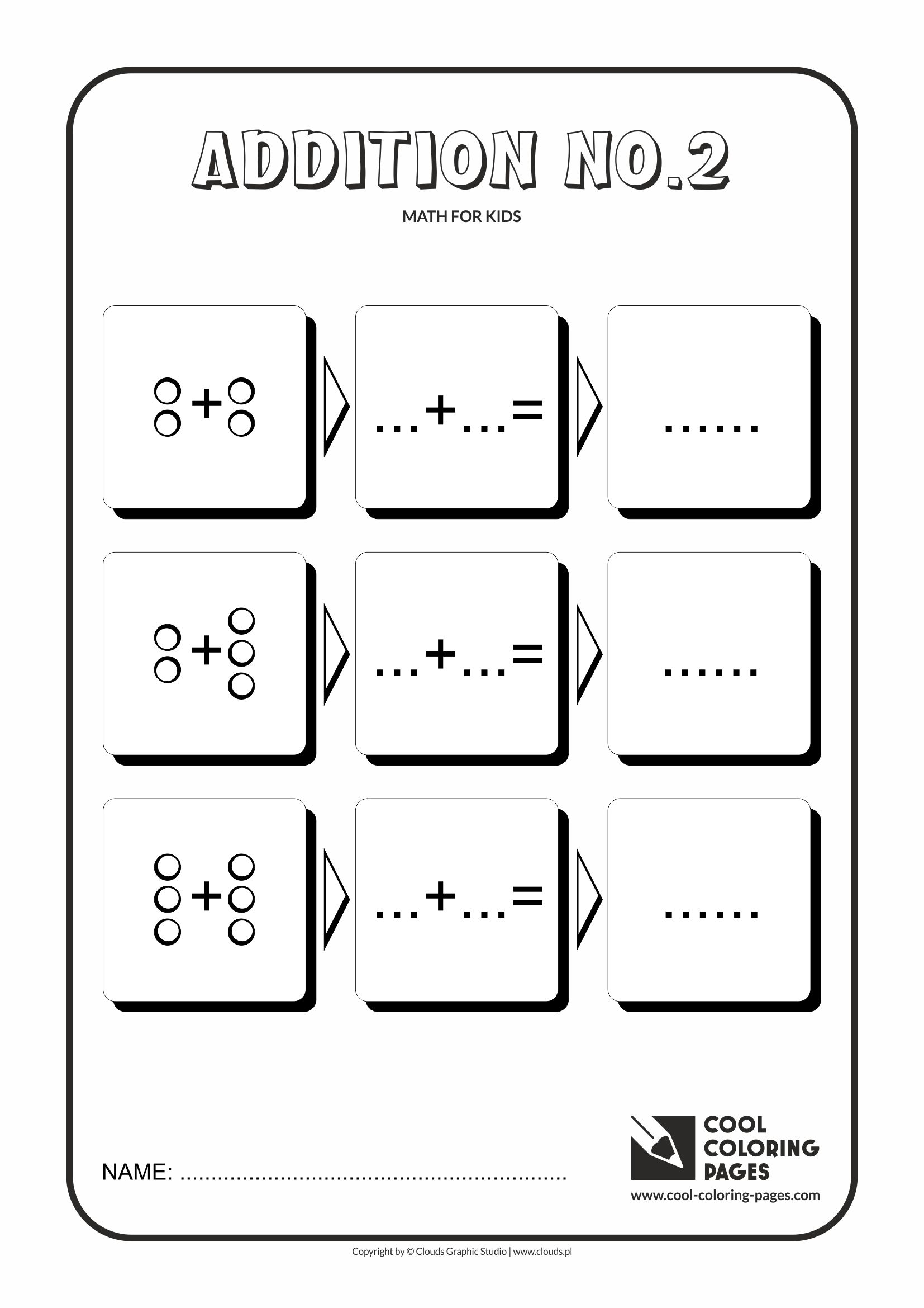 Cool Coloring Pages Math For Kids