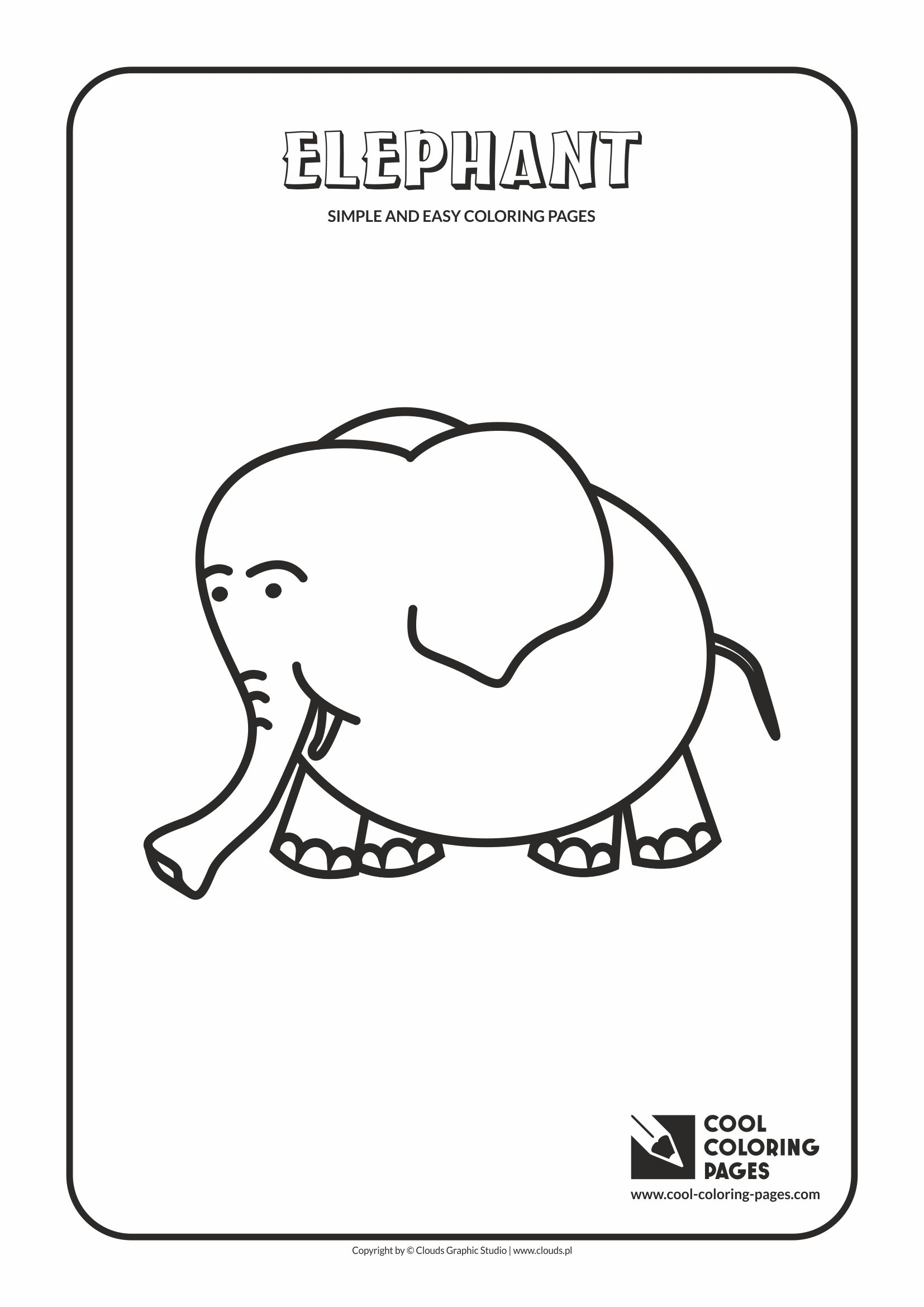 Cool Coloring Pages Simple And Easy Coloring Pages Elephant Cool Coloring Pages Free Educational Coloring Pages And Activities For Kids